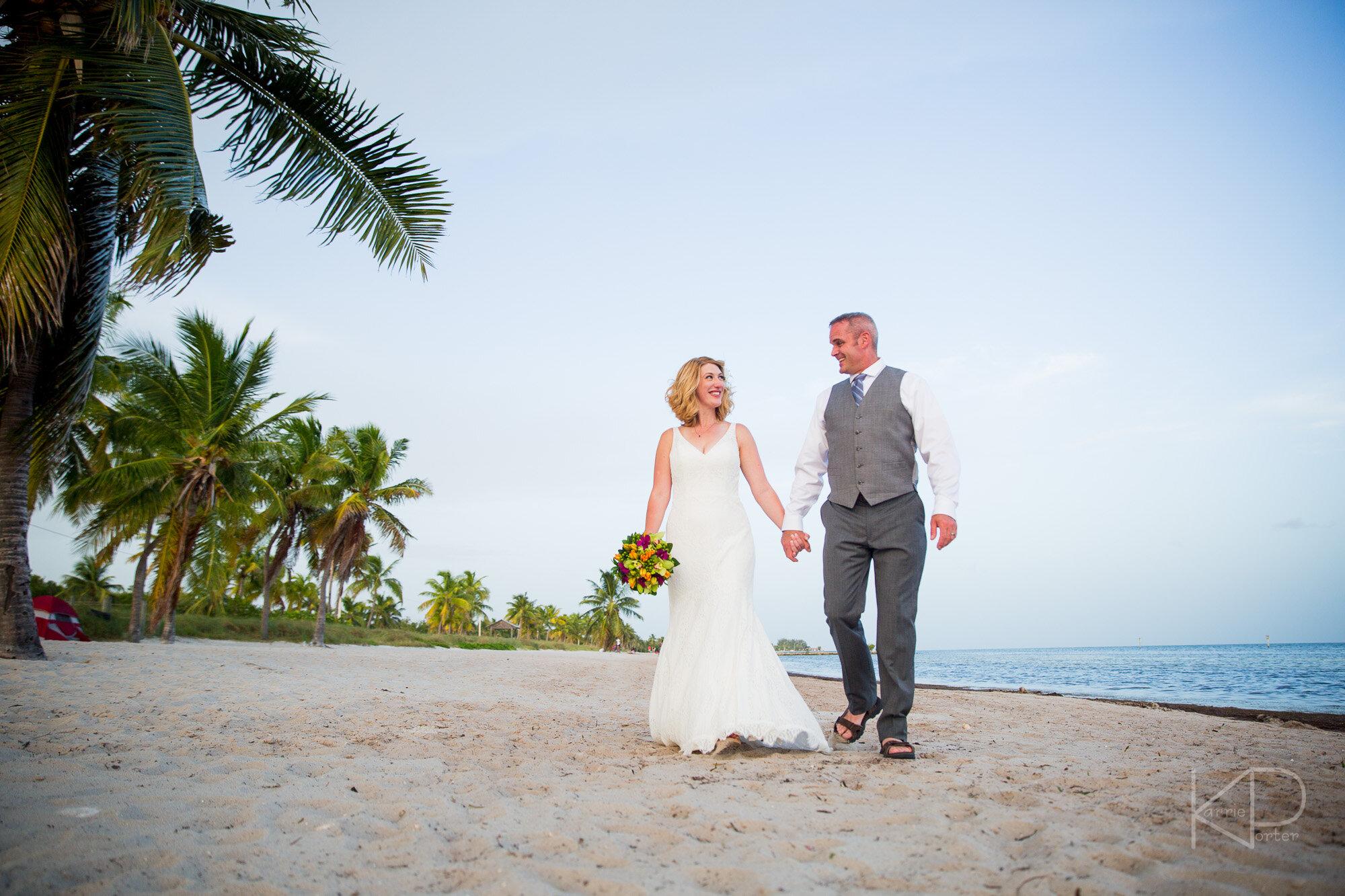 Smathers Beach Wedding Ceremony in Key West