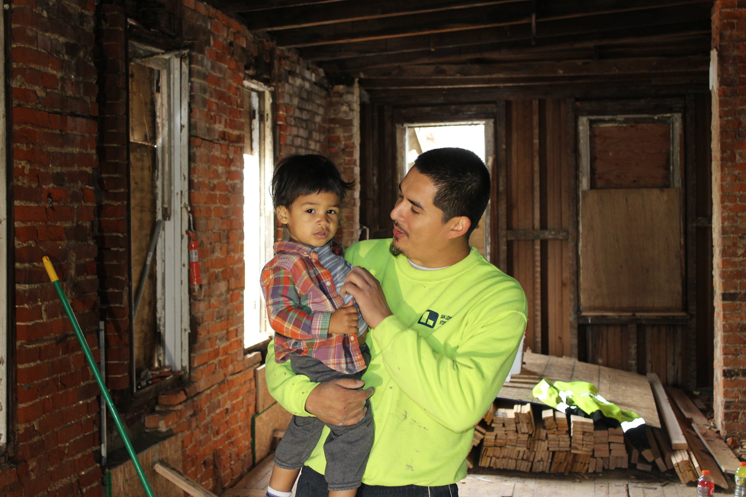 Instructor Deni and Trades for a Difference's youngest mentee Malcolm.