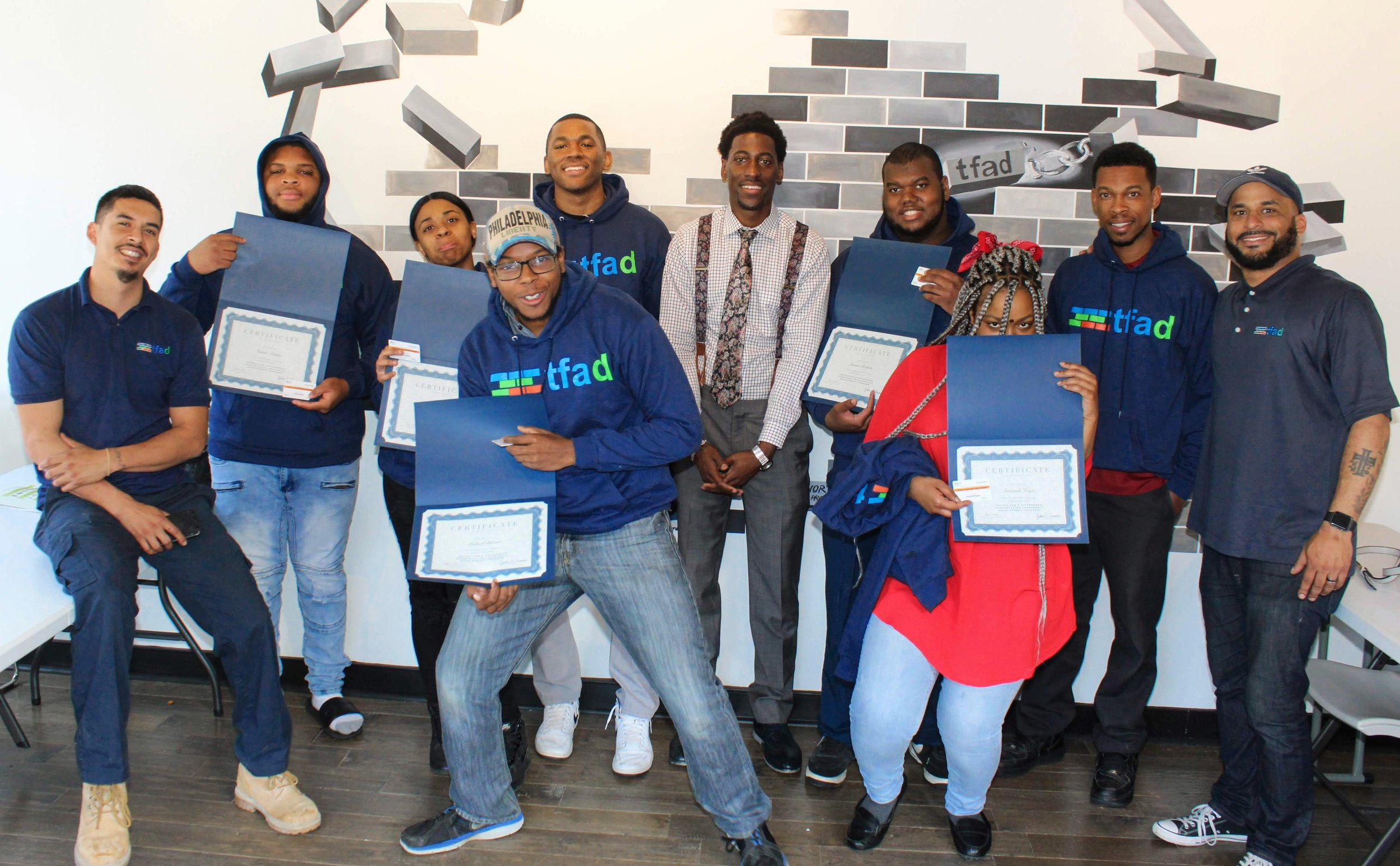 Trades for a Difference Graduation Ceremony May 2019