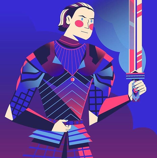 Who's better heroine than Brienne of Tarth? Last week #6hexcodes @rmayani theme was Heroes and why not our newbie Ser Brienne 🗡 . . #illustration#gameofthrones#illo#brienneoftarth#fanarts#design#mograph#digitalart#illustration_daily#picame#thedesigncastle#gfxmob#thedesigntip#illustrationisland#vector#vectorart