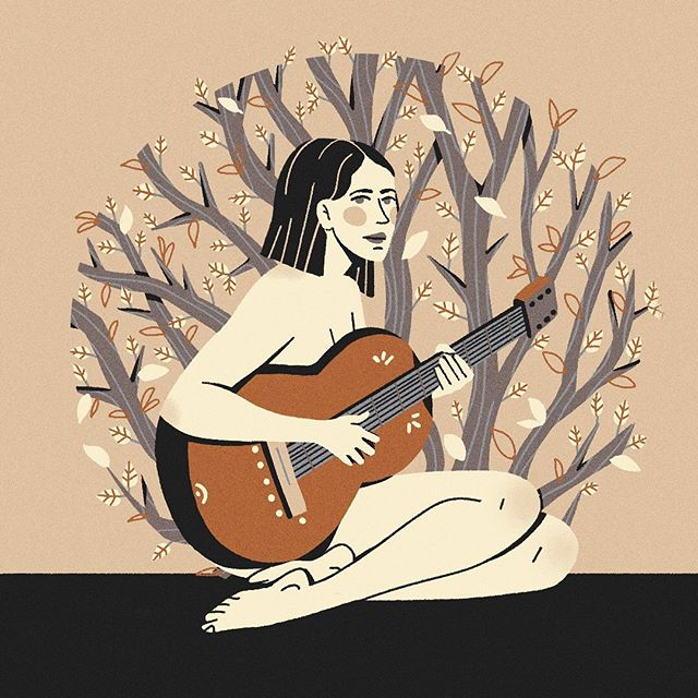 "My favorite folk singer Karen Peris! A true inspiration. Please check out The Innocence Mission album ""sun on the Square"". Super late for #6hexcodes submissions but i had to☘️ . . .  #illustration#singer#folksong#illo#design#mograph#digitalart#illustration_daily#visualsnack#picame#thedesigncastle#theinnocencemission #thedesigntip#delightgraphics#gfxmob#mograph#illustrationisland#gfxmob#karenperis"
