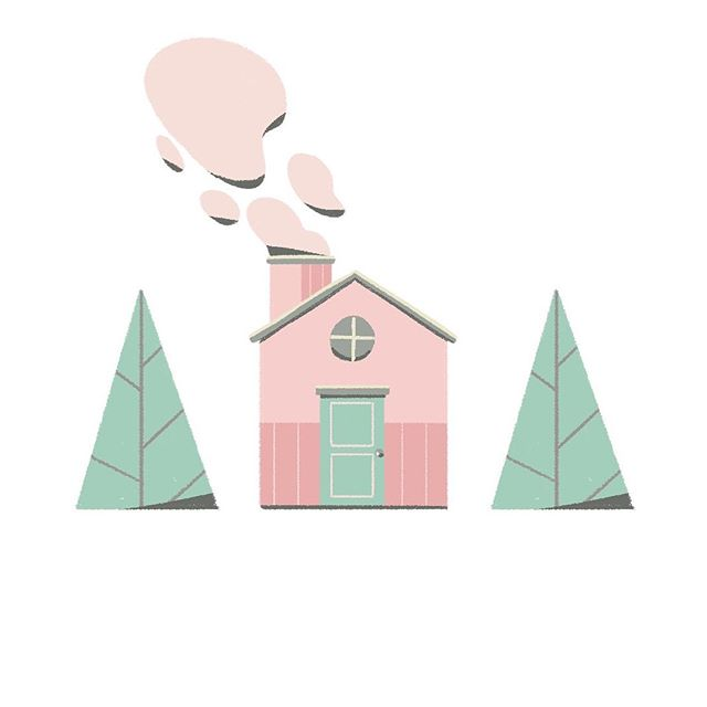 Lil house with out of my comfort zone color palette ۰-۰ . . #illustrator#illustration#illustration_daily#design#cutehouses#drawing#creativity#doodle#mograph#digitaldesign#colors#motiongraphics