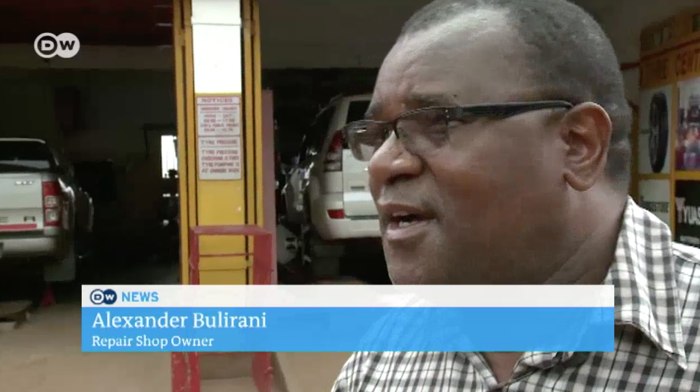 Alexander Bulirani talks about the impacts of the energy crisis on his mechanic shop business in this video from DW News. Click above to watch!