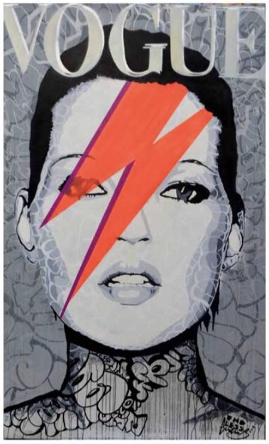 Endless-Kate in Vogue - 2015Acrylic and spray paint on deep edged canvasUnique, signed152 x 91 cm