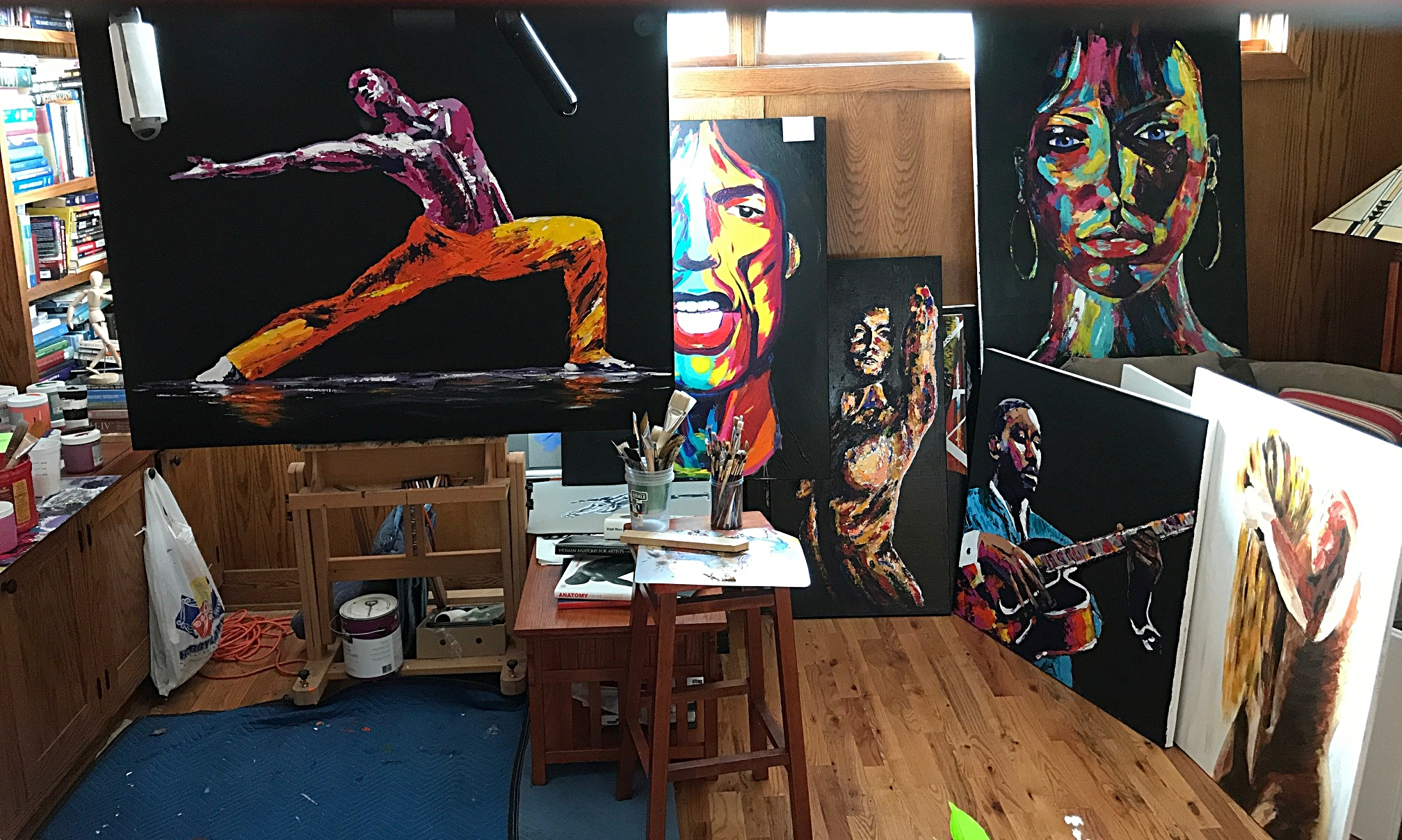 """My studio, where i """"steal"""" ideas from the greats, regularly."""