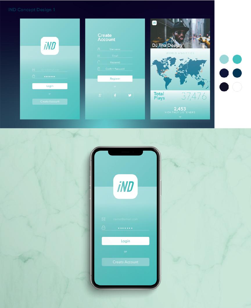 UI Design // iND App