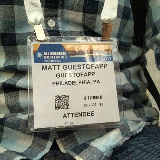 We're here at ISC East - and I am so serious about this company I guess I legally changed my last name #isceast