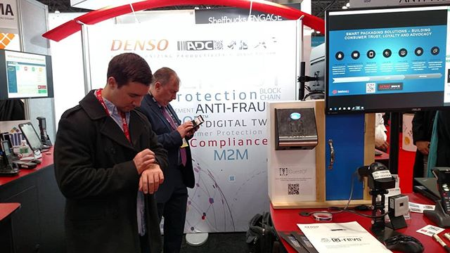 Our little demo unit looked pretty good hanging at the DENSO booth at NRF today