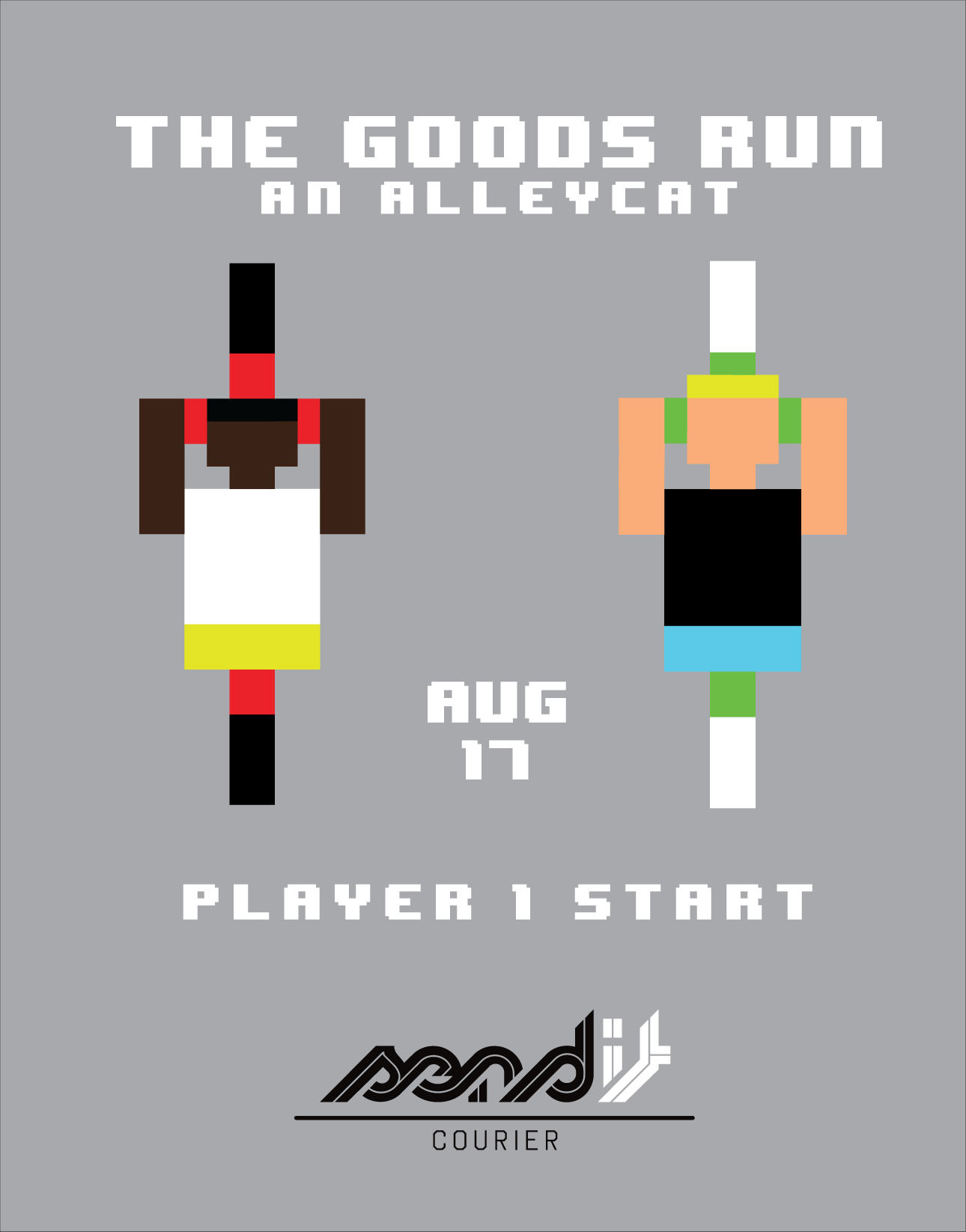 Poster for a bike race.  2013.
