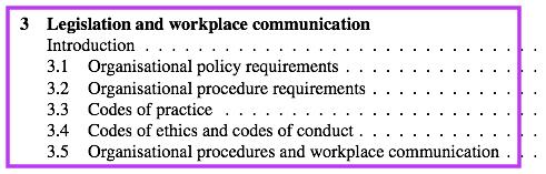 Impact of legislation and organisational policies on
