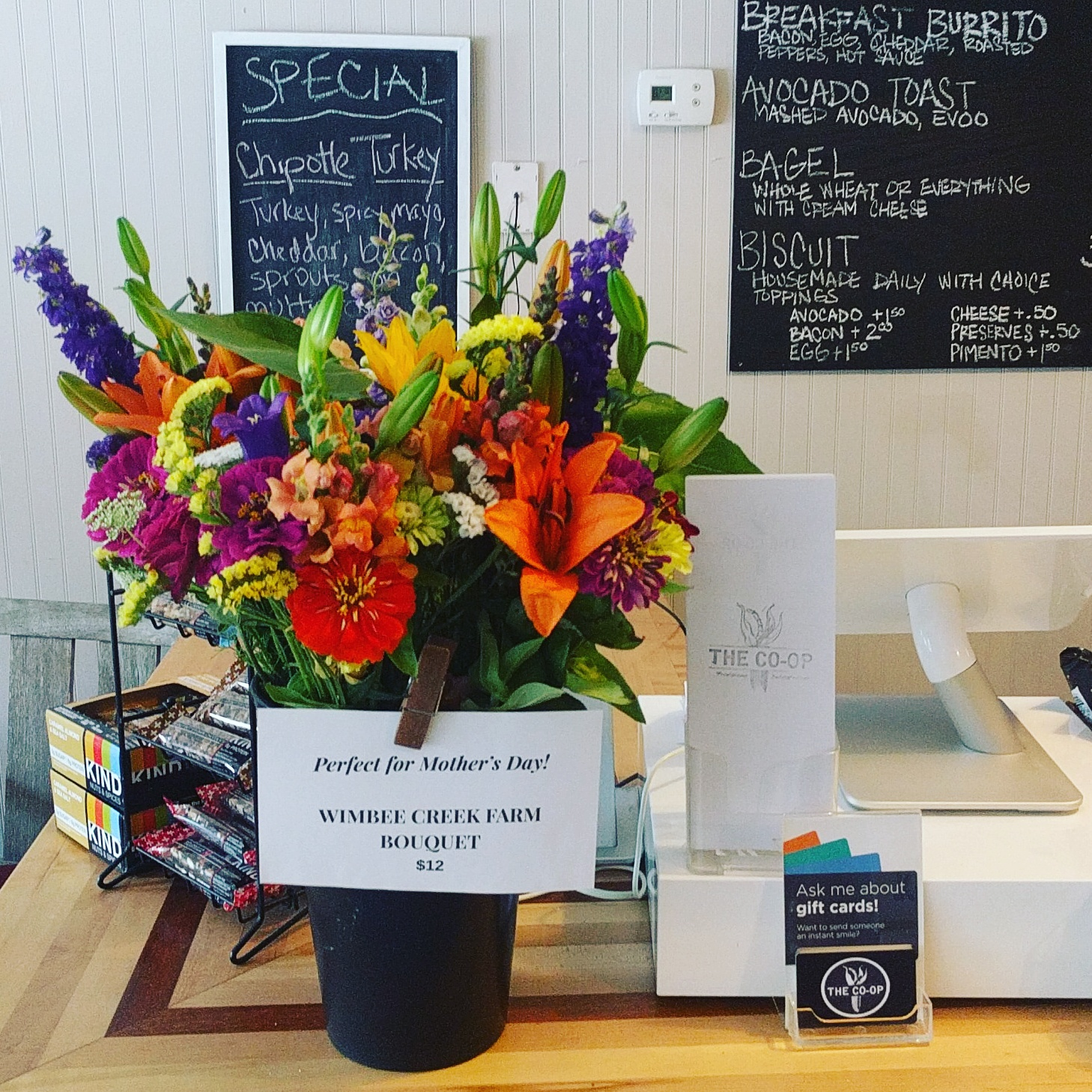 Now offering fresh local flower bouquets from Wimbee Creek Farms! Also available for delivery to beach stations and local Sullivan's Island residents.