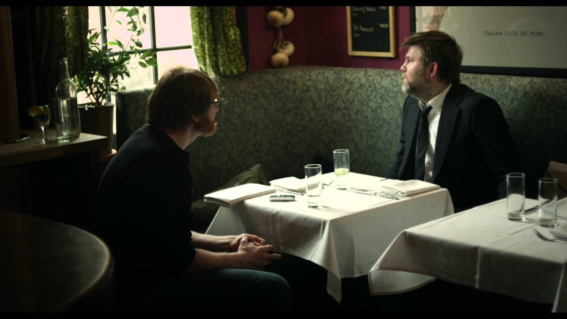 screenshot from Shut Up and Play the Hits: Chuck Klosterman and James Murphy