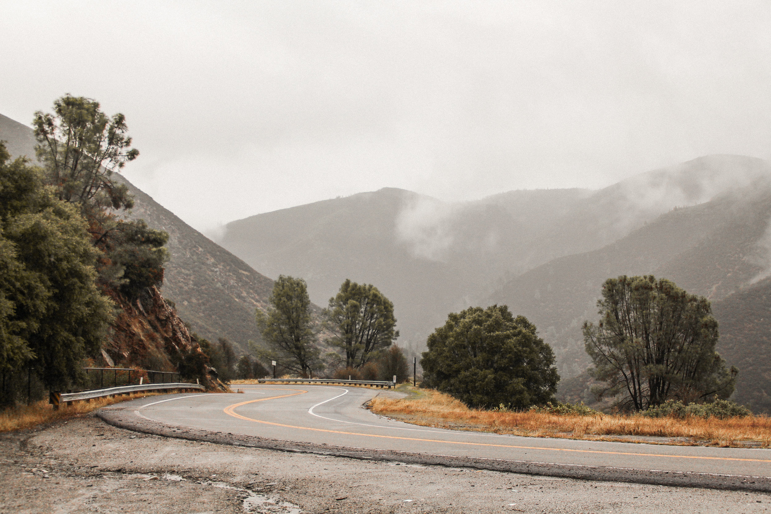 Winter in Yosemite, Highway 140, El Portal, California