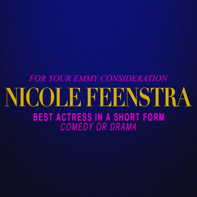 FOR YOUR EMMY CONSIDERATION— Best Actress in a Short Form Comedy or Drama, Nicole Feenstra @nickyjanefeenie [CATEGORY 80] Watch the FYC video now! Link in bio. . . . . . . . #fyc #foryourconsideration #foryouremmyconsideration #emmys2018 #actress #actor #actresslife #actorlife #shortform #webseries #comedy #relationships #sag #screenactorsguild #tvacademy #losangeles