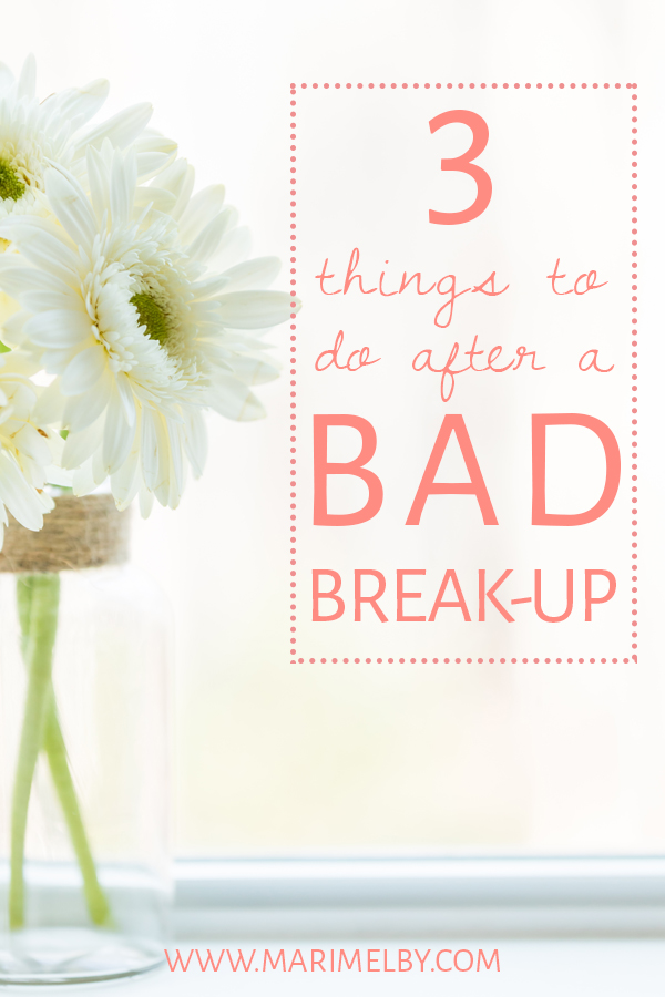 Dealing with a bad break-up? Here's some relationship advice to get you back on your feet and able to move on as quickly as possible. I know from experience that it can be really hard to get over someone. Need some tips? See the break-up as an opportunity to re-invent yourself. Be productive with your newfound time. And lastly, tell yourself that you are worthy of a fulfilling relationship with a respectful partner that you are excited to be with.