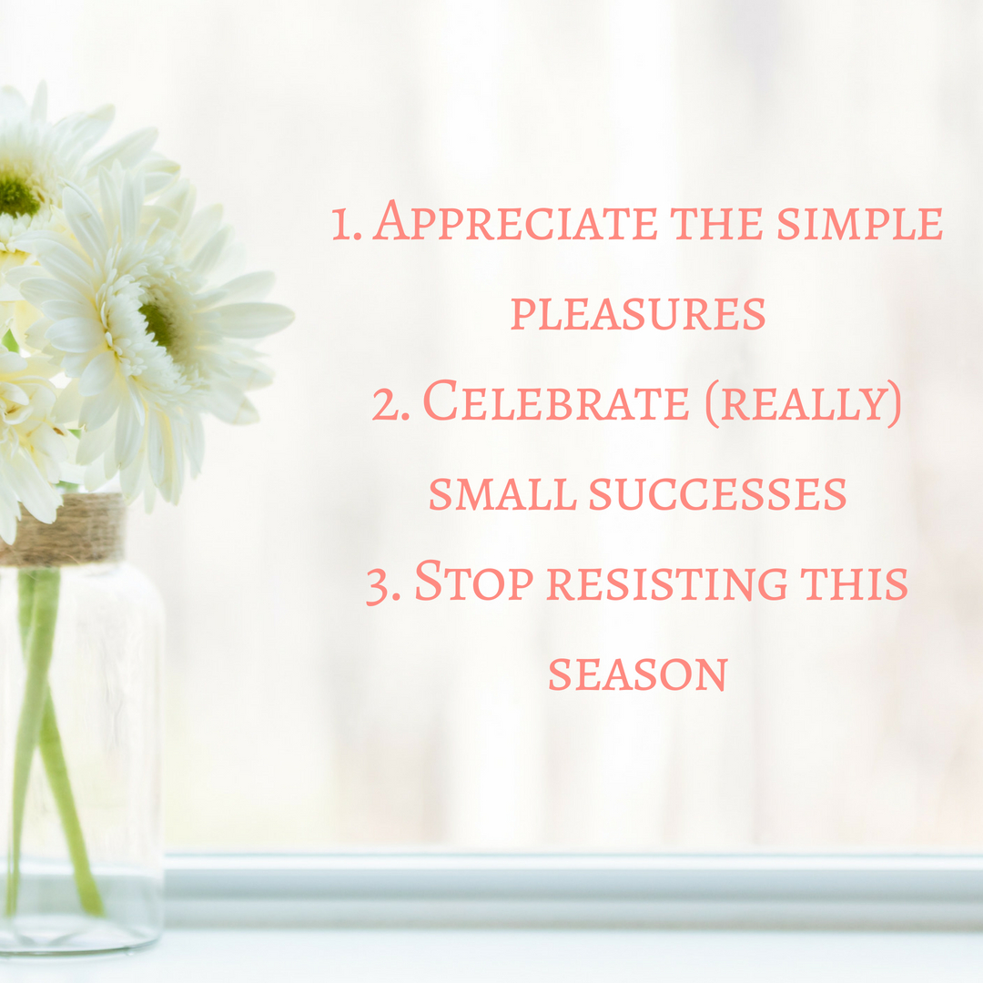 A reflection on a three things I learned this spring: appreciate the simple pleasures, celebrate (really) small successes, and stop resisting the season. Read more at www.marimelby.com #intentionalliving #livingwithintention #slowliving #seasonalliving #seasons #livingwithkids
