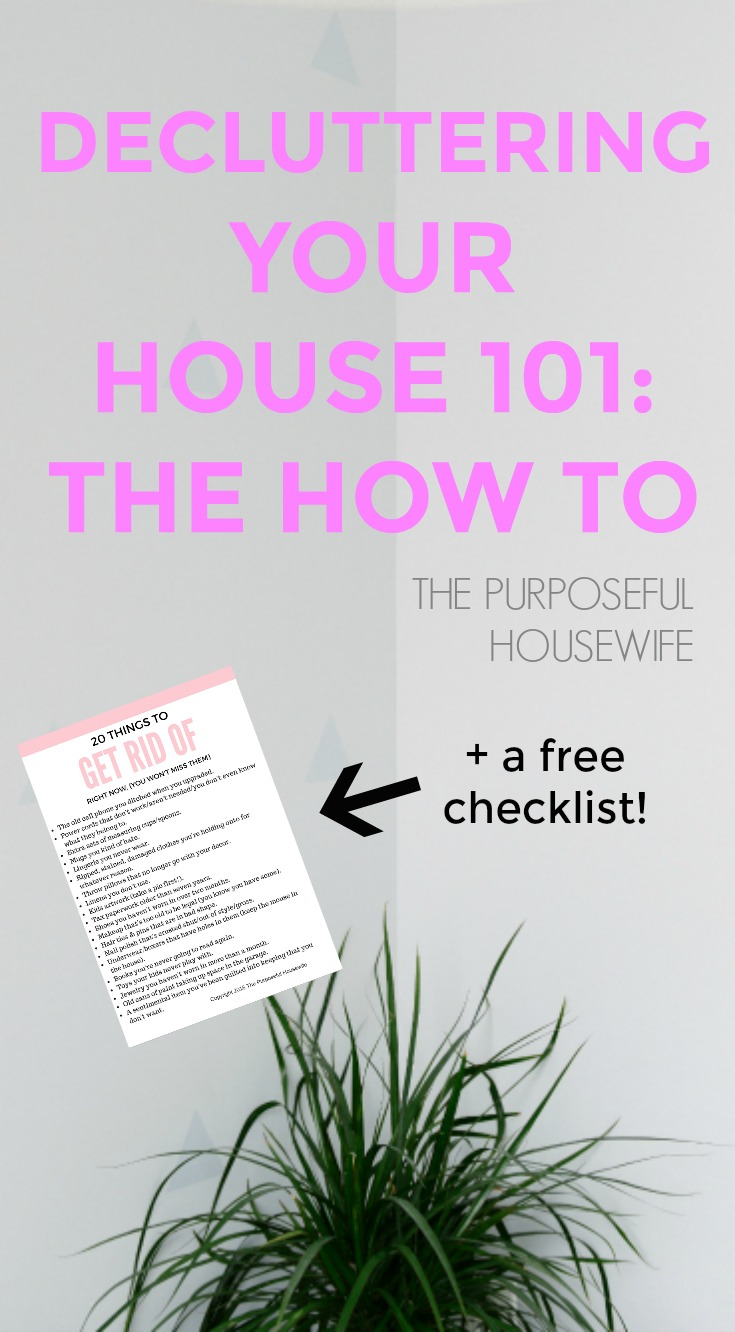 decluttering 101: how to declutter your house.