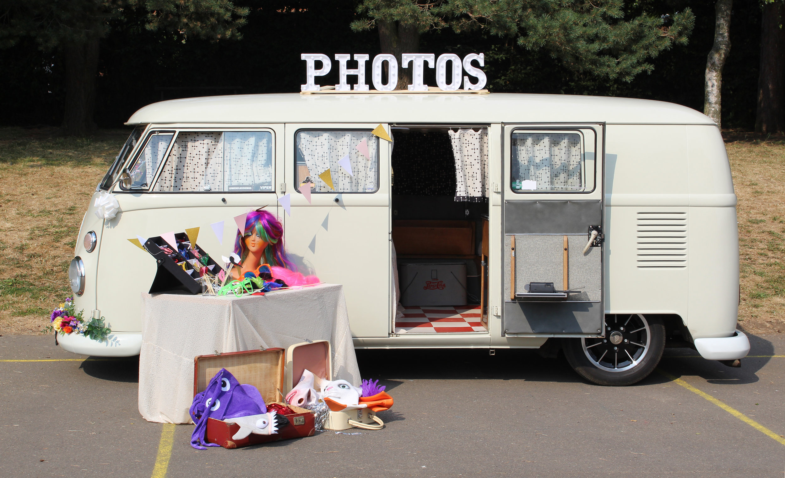 Camper Van Photo Booth Hire | PixWagen Camper Photobooth | Kent