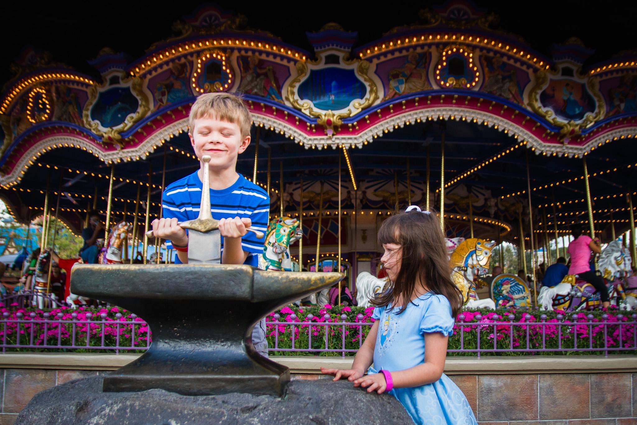 magic kingdom photographer / disney vacation photographer / prince charming's regal carousel