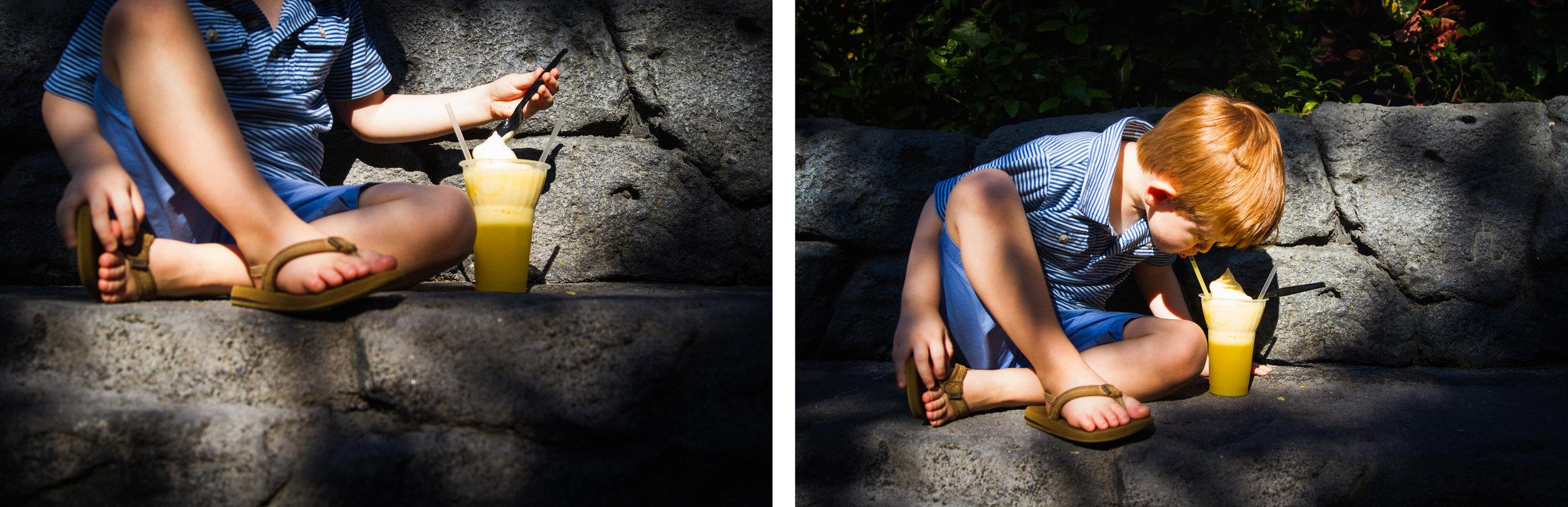 adventureland dole whips / sunshine tree terrace / aloha isle