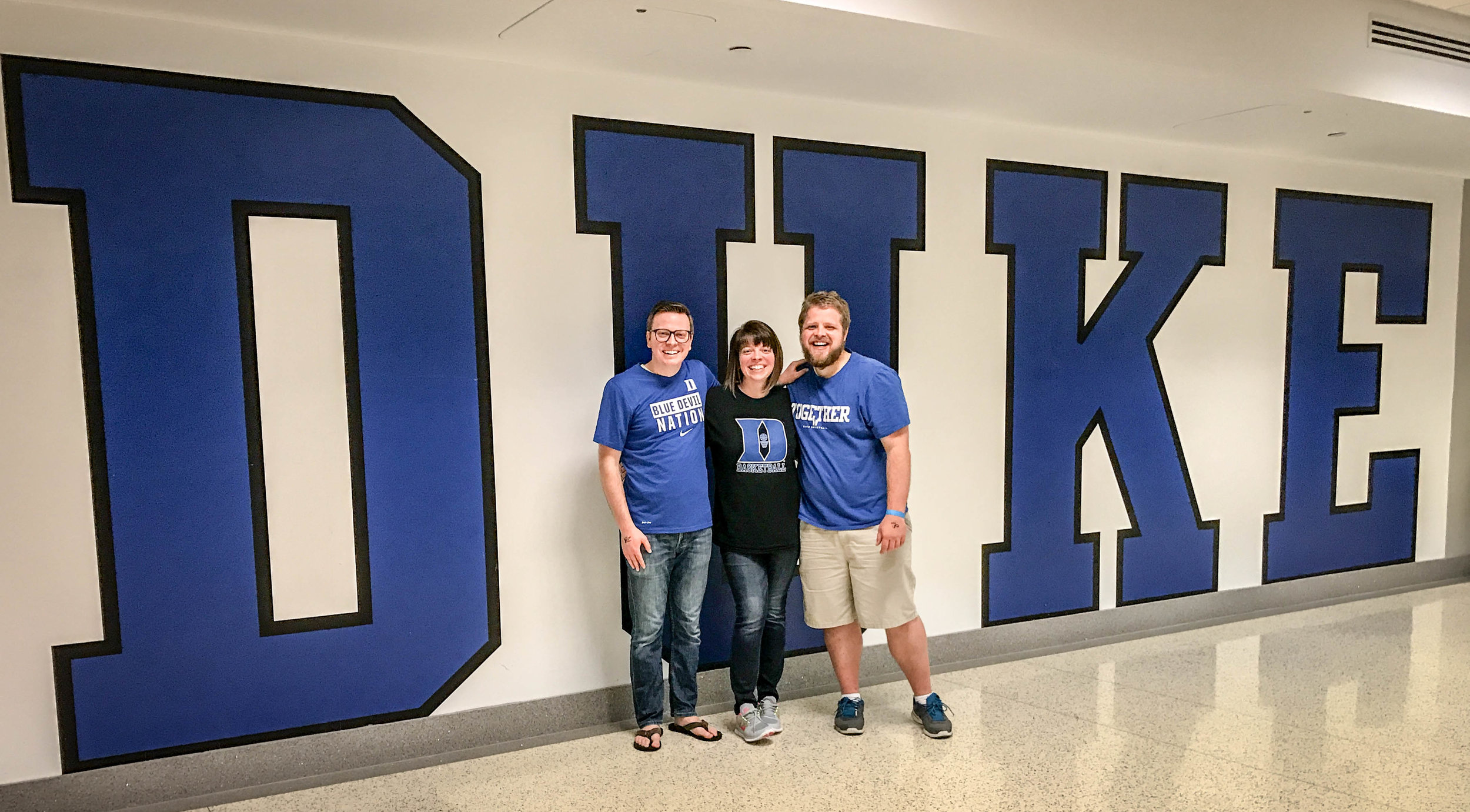 After the Duke game (Feb 28, 2017). Duke won! It was also senior night so several seniors were honored during the game.