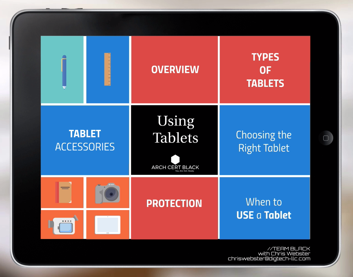 Using Tablets // Chris Webster   What type of tablet should you use in the field? What about accessories? Are they rugged? Learn all this and more in this Team Black video.