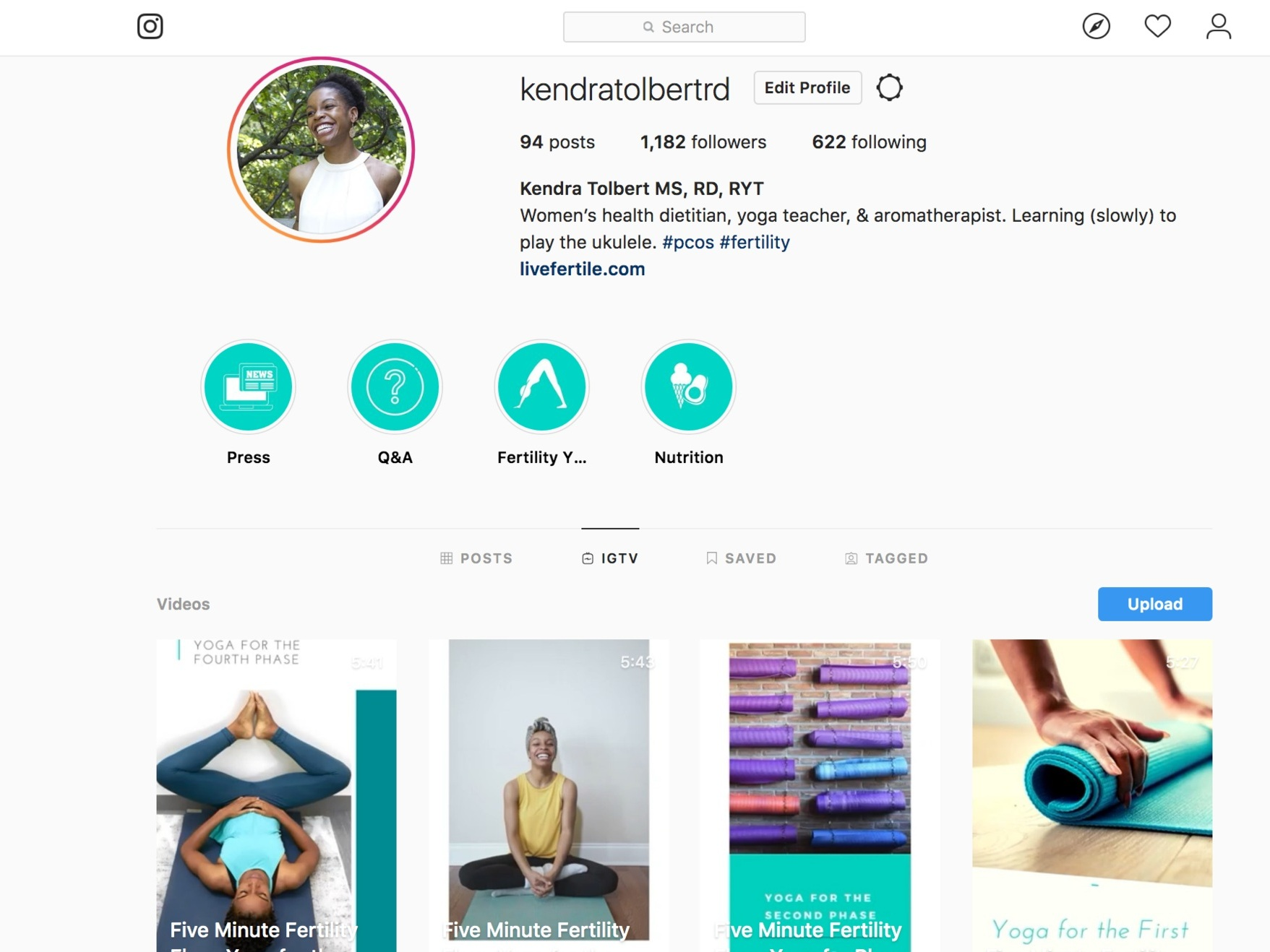 PCOS and Fertility Yoga Instagram Video Live Fertile