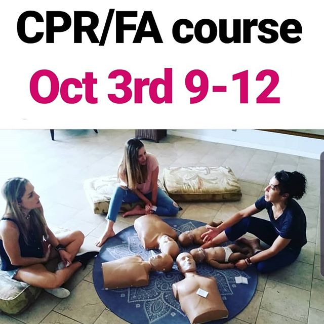 Weve got a few spots in our first class in the new space Oct 3rd. Send us a DM to get in on it. @adventuresportsmaui #cprclasses #firstaid #maui #cpronmaui