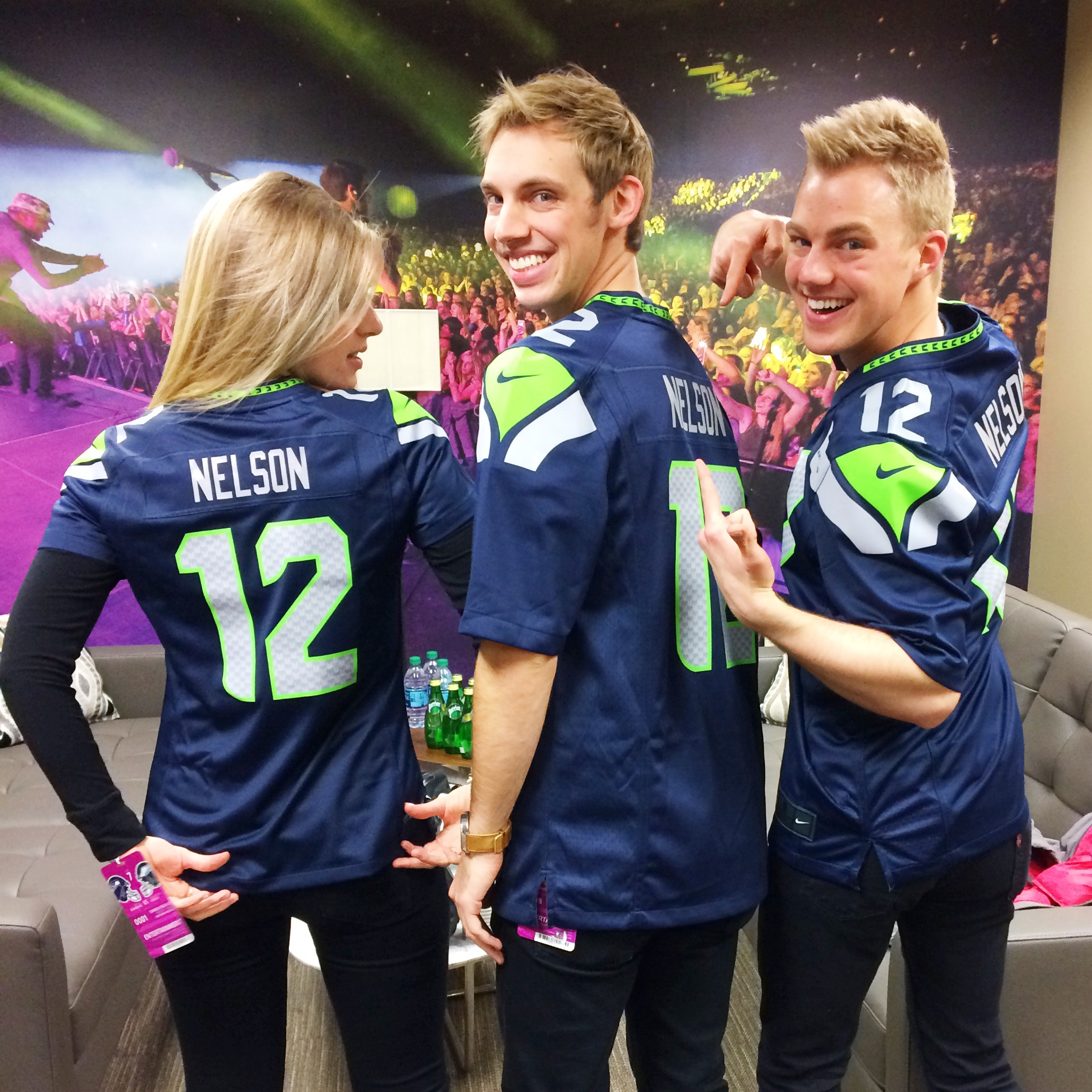 They provided us with our very own custom jerseys! Go Hawks!