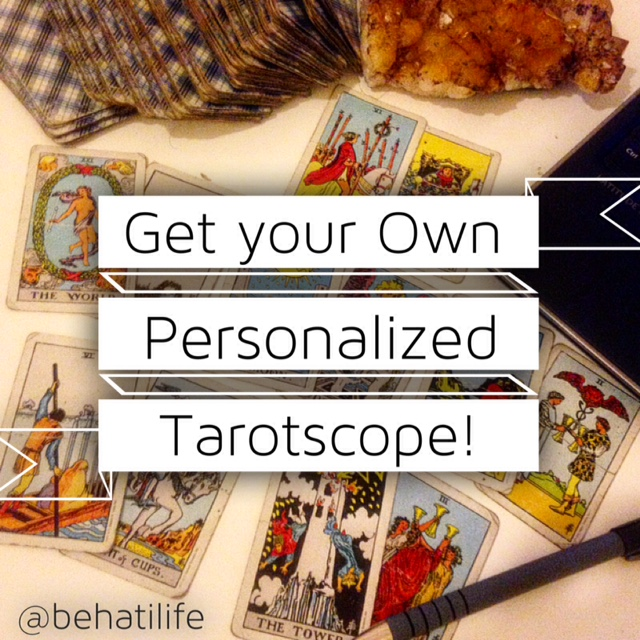 Email Jessica at  BehatiLife@gmail.com  to sign up for your own personal weekly tarotscopes! Starting at $20/ wk!