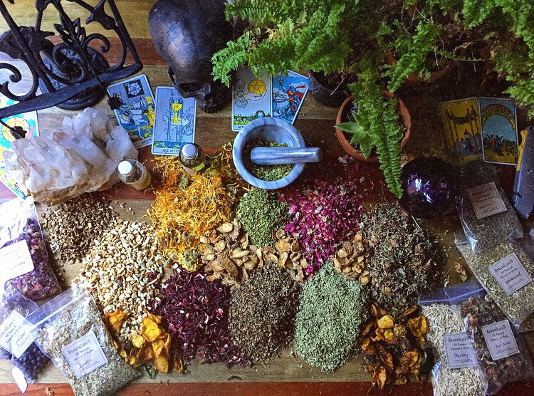 Herbs available for candle magick, ritual, offerings, and more in BehatiLife Apothecary.