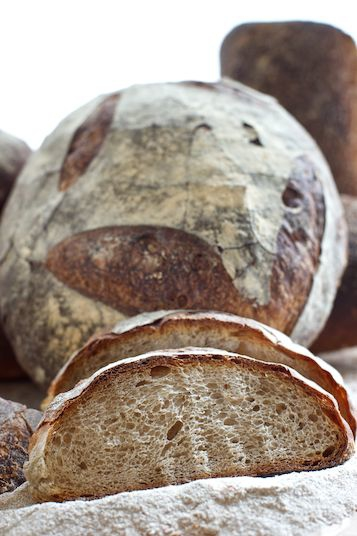 CHARDONNAY MICHE    Dark wheat-based wine bread. Made with Chardonnay starter from Long Island vineyard.