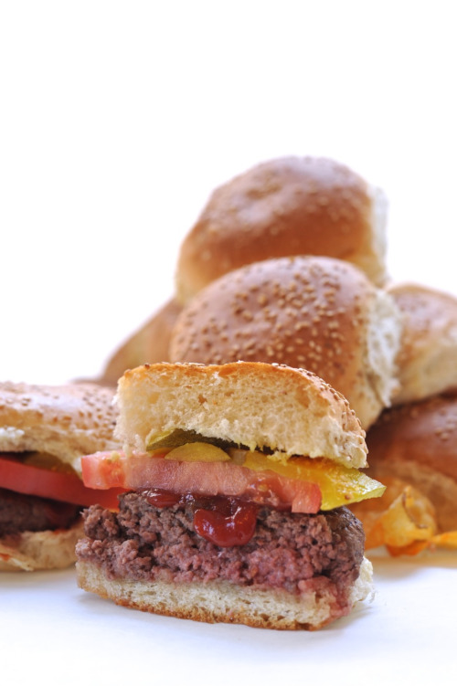 BURGER BUNS  Soft and light but hearty enough to support thick and juicy burgers.