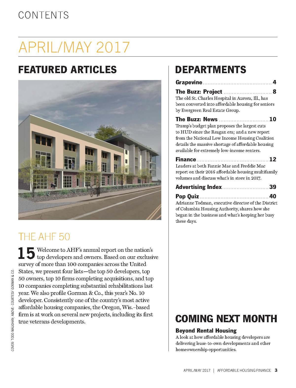 2016 AHF Top 50 Magazine - Madhouse Development