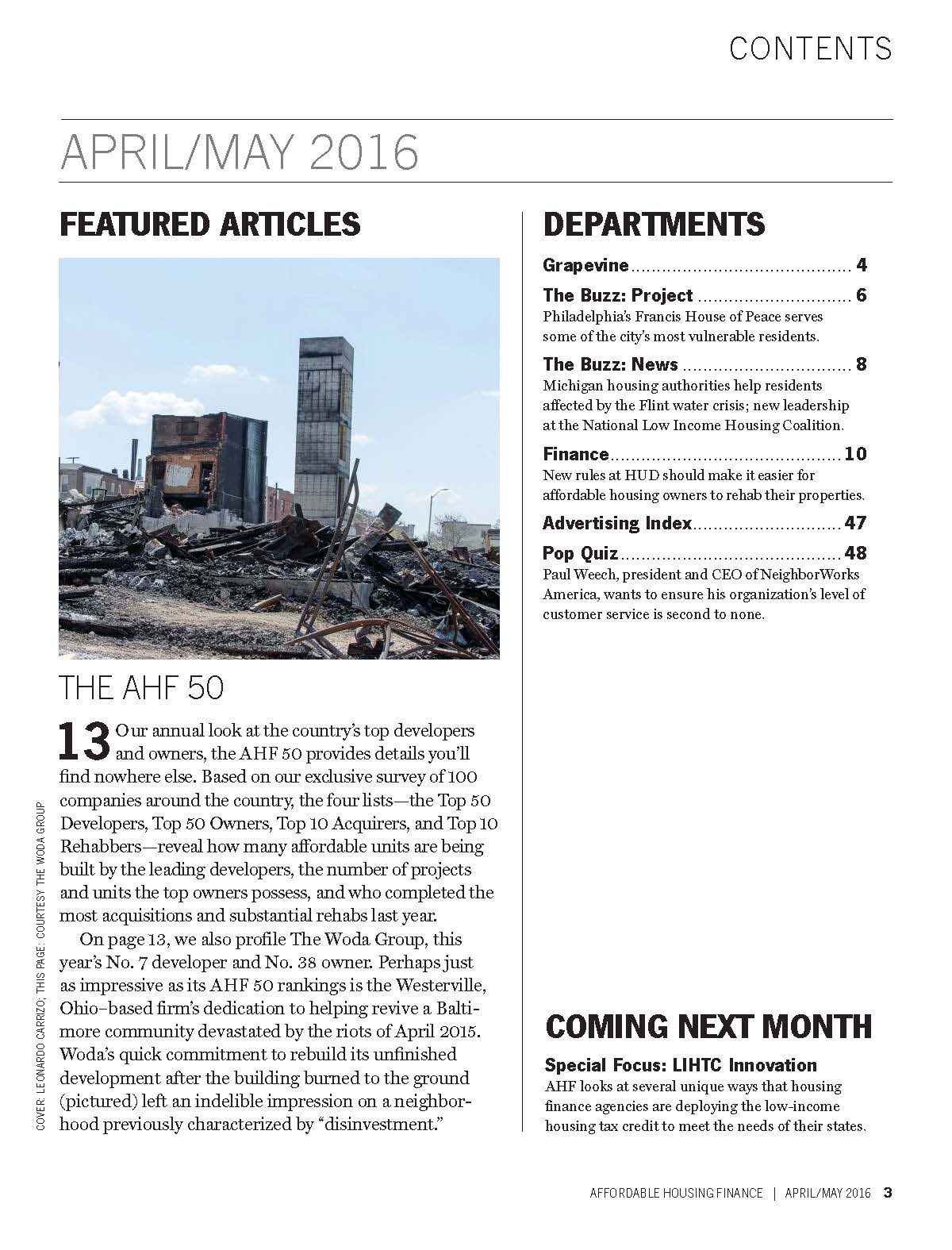 2015 AHF Top 50 Magazine - Madhouse Development