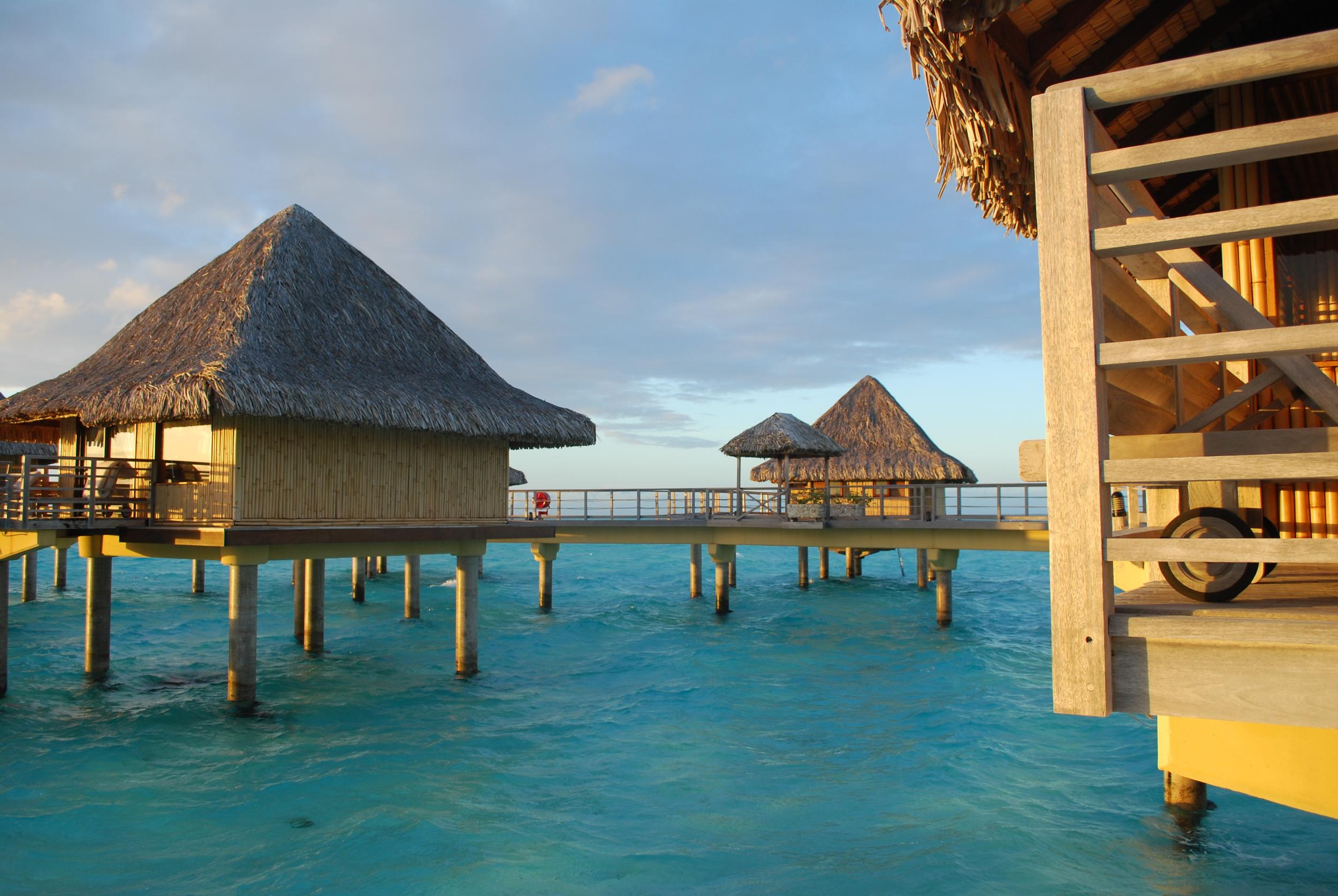 The sun rises in Bora Bora 2