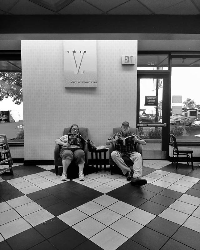 Cuadrados. . . . . . . #squared #life #americana #cuadrados #b&w #resignation #old #couple #doingnothing #waitingtodie #rv #readingmagazines #checkers #floor #poepleoutthere #everythingisquared #instagram #instapeople #insta #sonyxperia #blackandwhitephotography #grayhair #thisisamerica