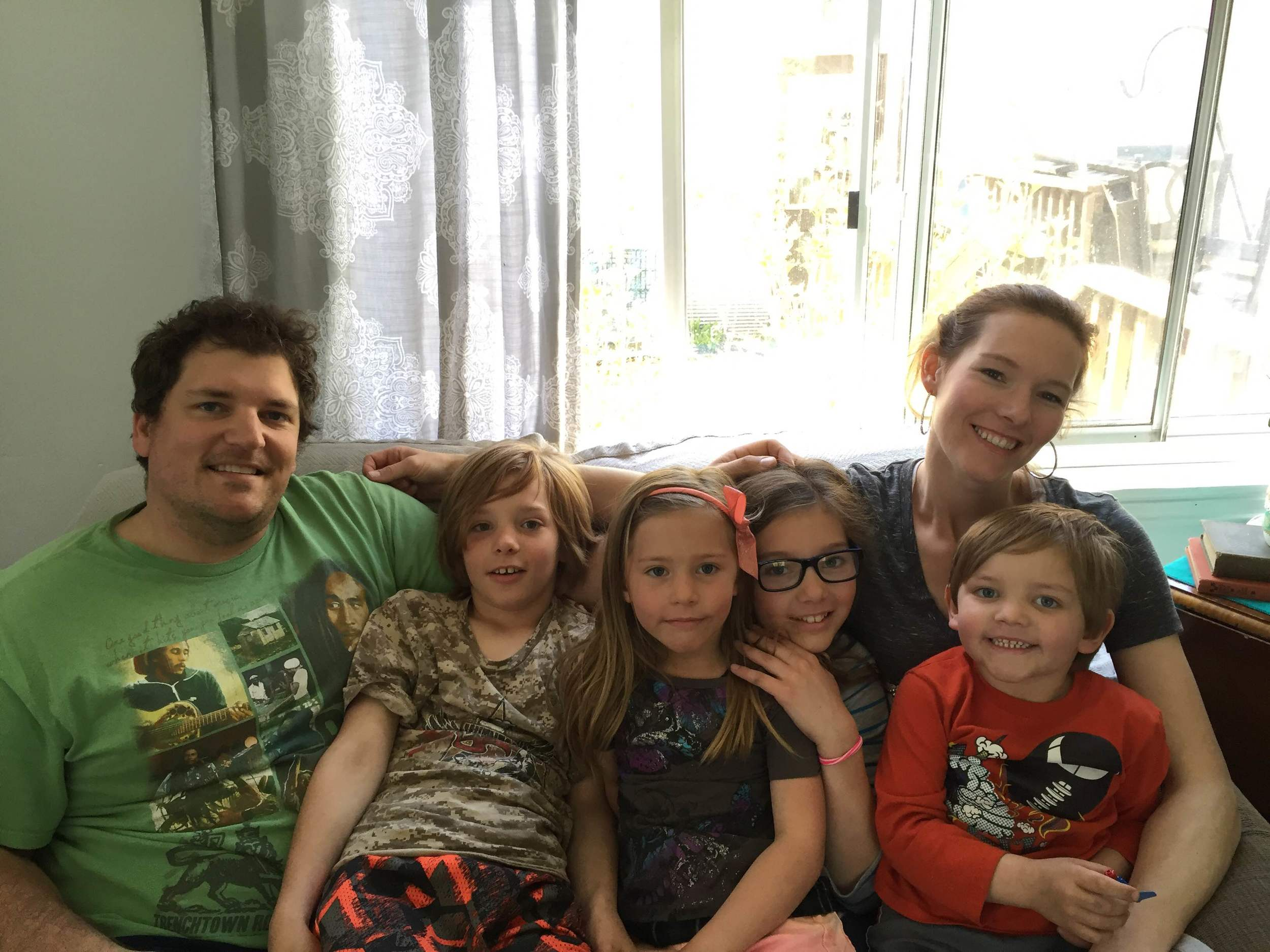 Sarah, her husband Ed and their four children have lived in their home for 12 years.