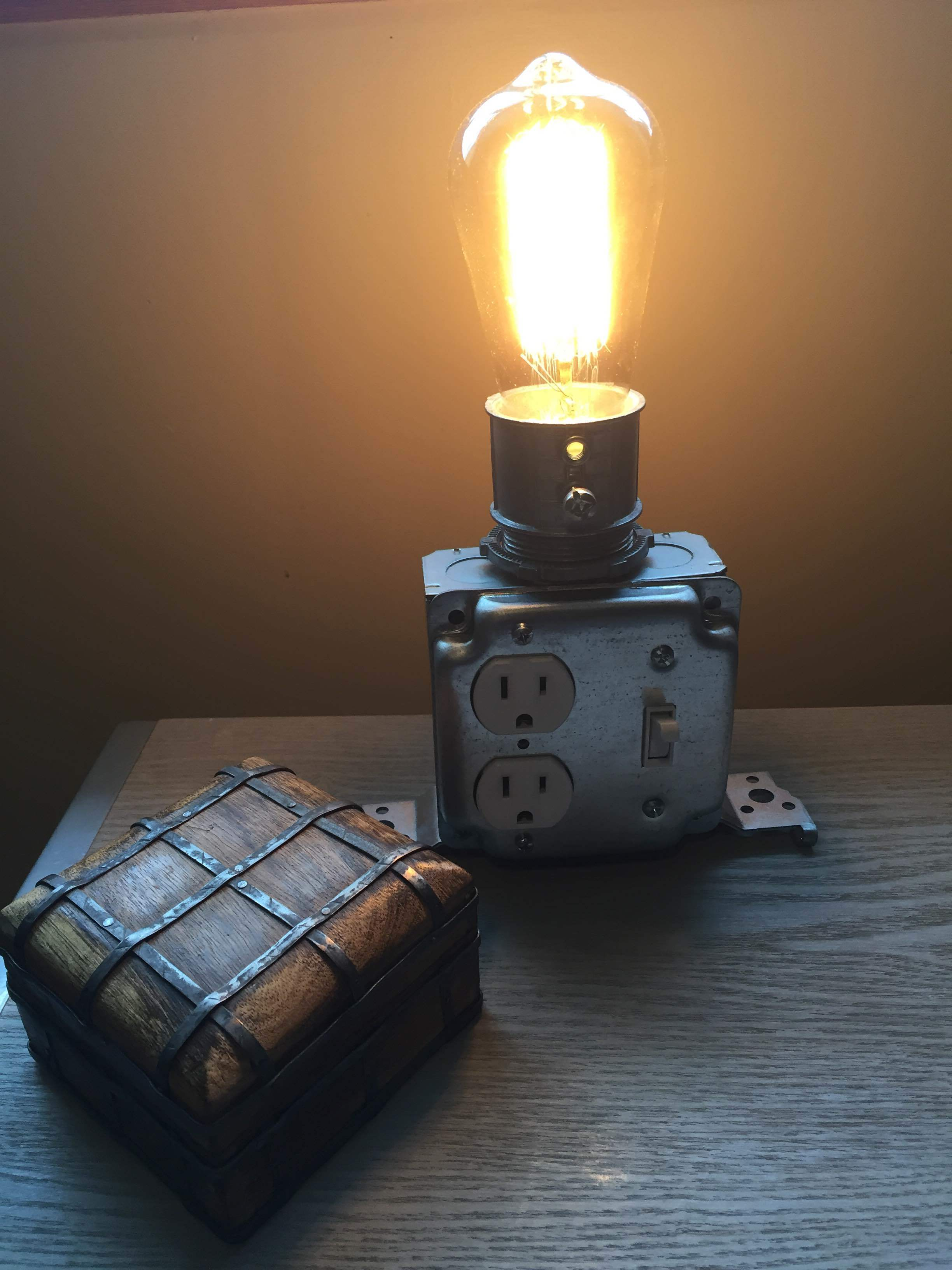 Industrial nightstand light made by Melissa.