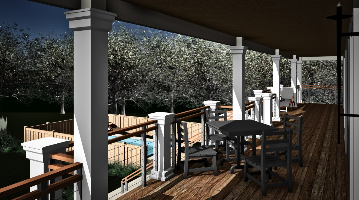 CAPTAIN HOUSE 22 7TH AVE ORIGINAL 5th BED Version - 3D View - FROM DINING DECK TO POOL PERSPECTIVE_9_23.jpg