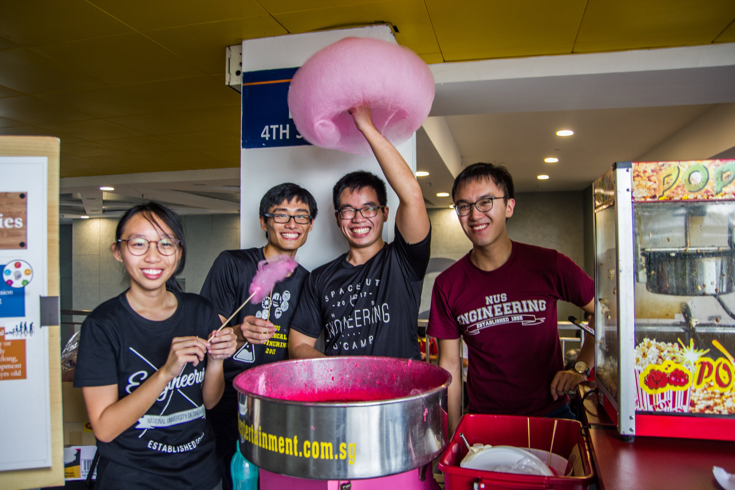 Cotton candy and popcorn booth!