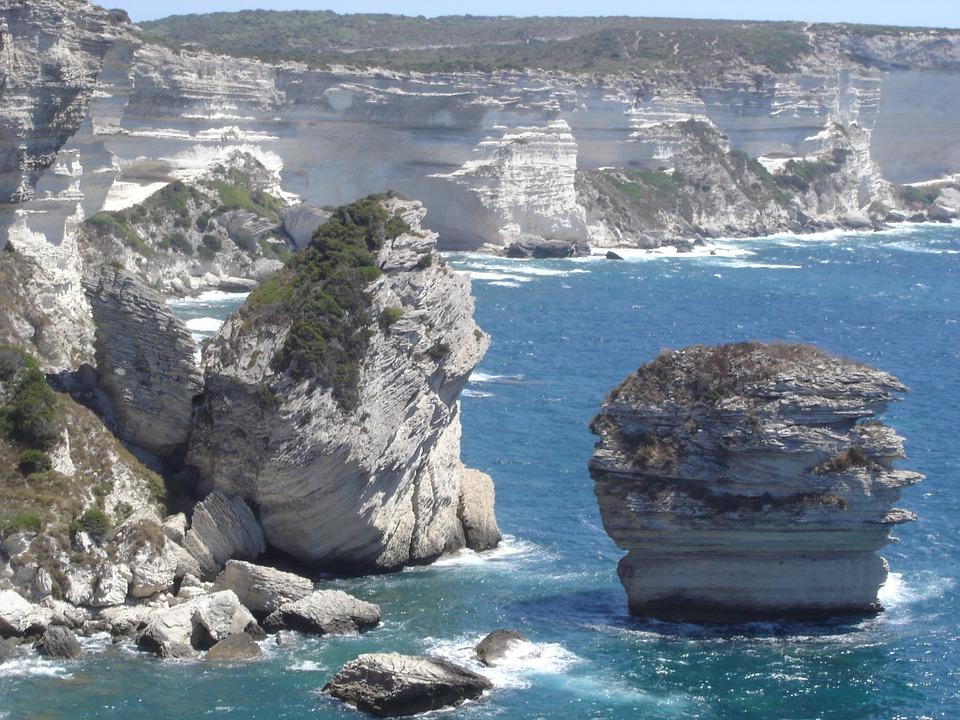 shores of the Strait of Bonifacio.  CREDIT: CC0 PUBLIC DOMAIN,https://pixabay.com/en/bonifacio-strait-of-bonifacio-375828/.