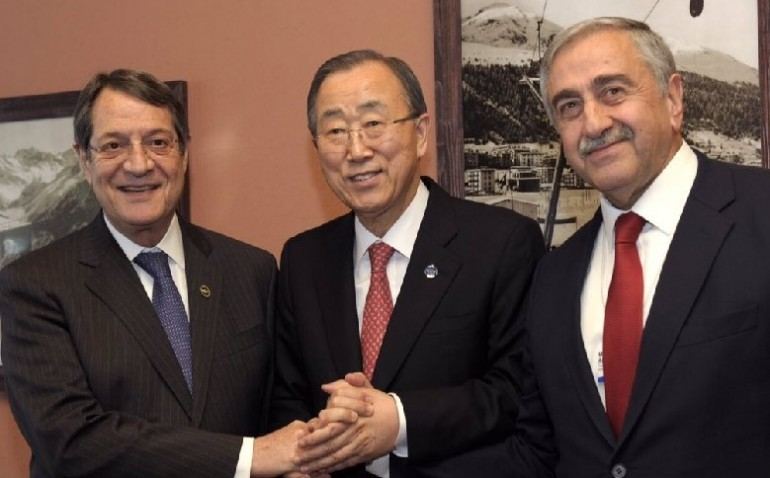 UN   SECRETARY-GENERAL BAN-KI MOon MEETS GREEK CYPRIOT LEADER   NICOS ANASTASIADES  AND TURKISH CYPRIOT LEADER   MUSTAFA AKINCI IN Davos ON 21 January 2016.   Credit: UNITED NATIONS  , http://162.243.184.203/2016/01/21/the-secretary-general-remarks-for-press-following-meeting-with-mr-nicos-anastasiades-greek-cypriot-leader-and-mr-mustafa-akinci-turkish-cypriot-leader-davos-21-january-2016-as-delivered/.