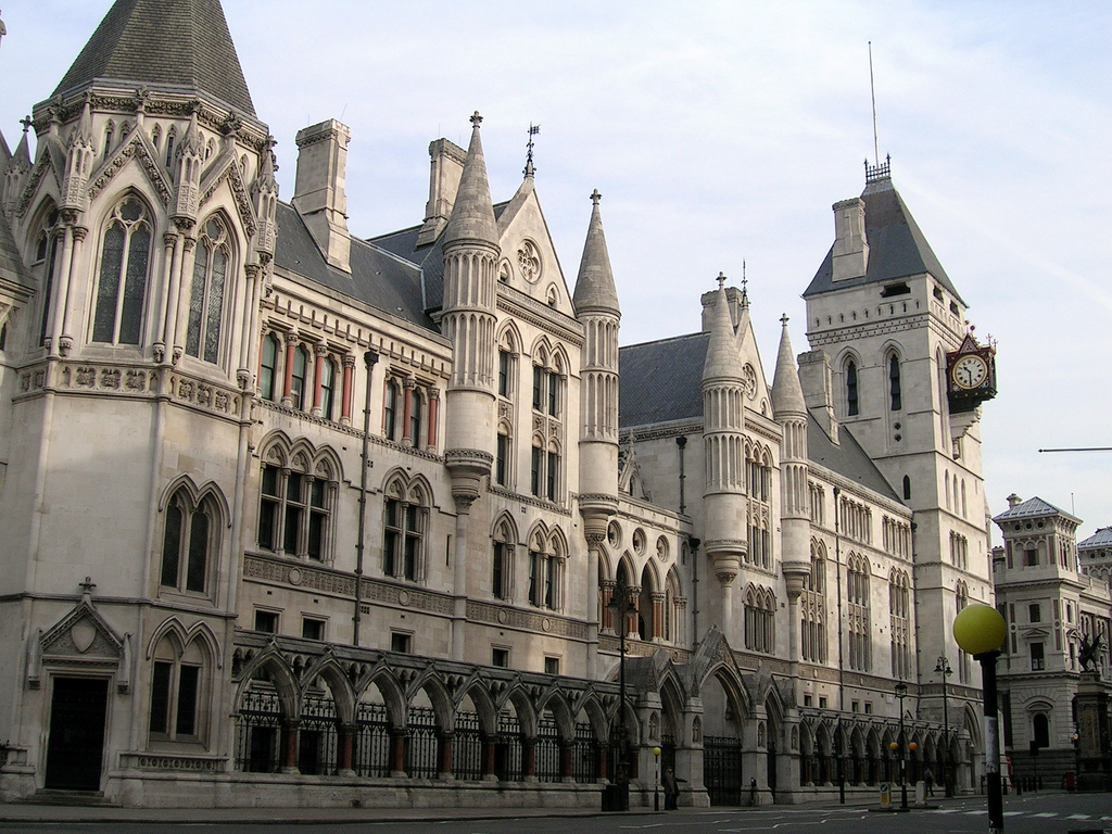 The Royal Courts of Justice, London. CREDIT:  IMAGE By sjiong (http://www.flickr.com/photos/sjiong/109817932/) [CC BY-SA 2.0 (http://creativecommons.org/licenses/by-sa/2.0)], via Wikimedia Commons.