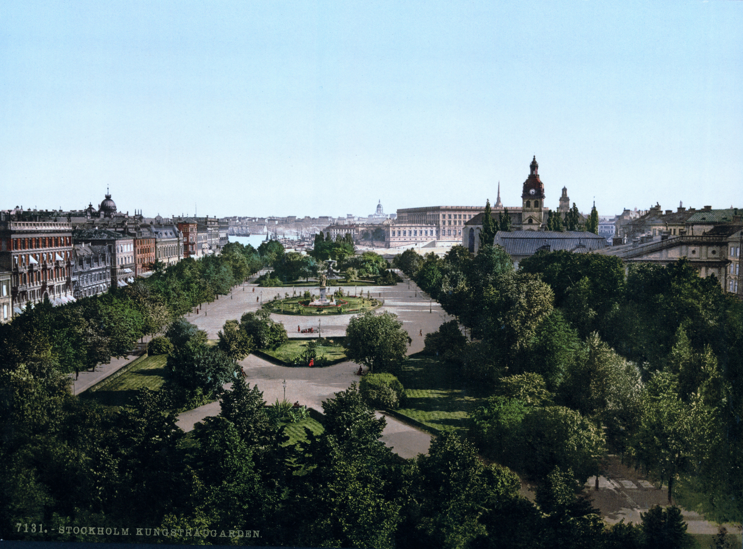 A Late 19th Century Postcard image of Kungsträdgården, Stockholm,currently administered by the Stockholm Chamber of Commerce.  Credit:  U.S. Library Of Congress Reproduction LC-DIG-PPMSC-06230 .