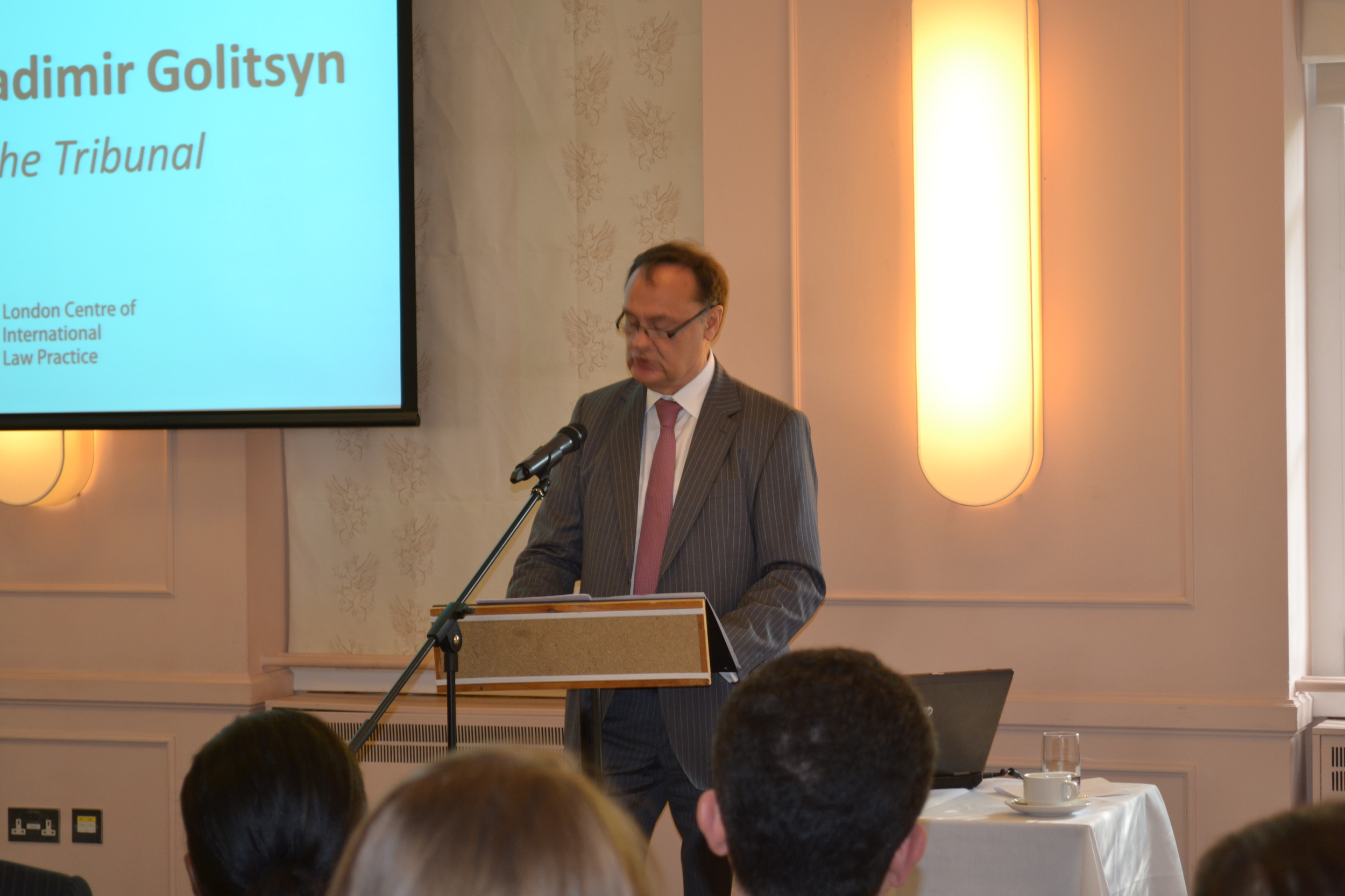 H.e. Judge Vladimir Golitsyn, President of the International Tribunal for the Law of the Sea.