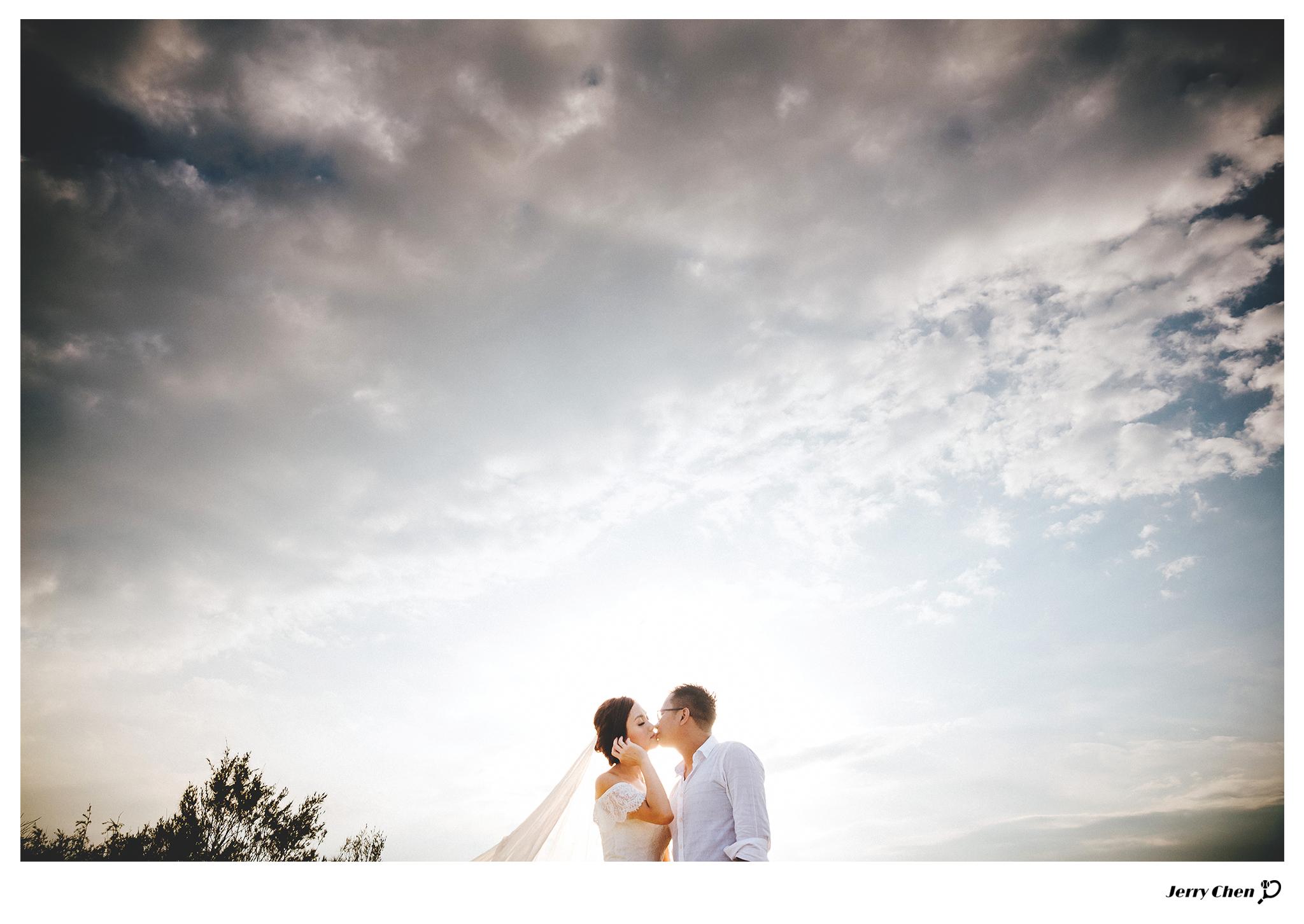 [淡水沙崙海灘夕陽婚紗攝影 - Pre-Wedding Photography] 大寶 + 張簡
