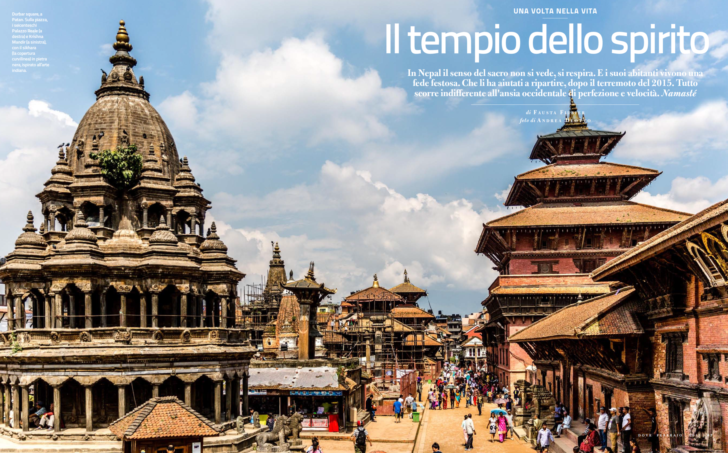 Opening Spread of the reportage on Nepal
