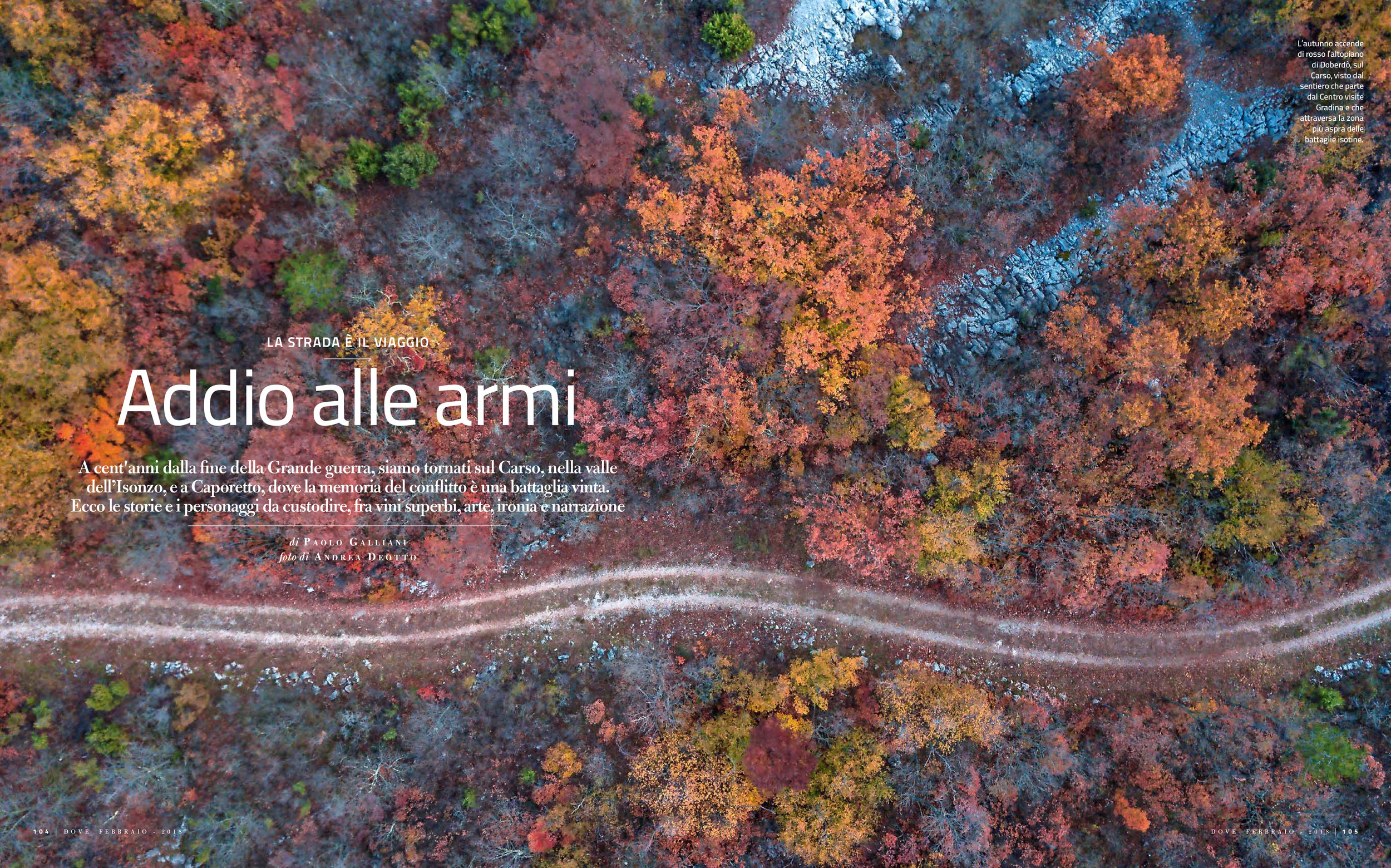 OPENING SPREAD OF THE REPORTAGE ON FRIULI-SLOVENIA