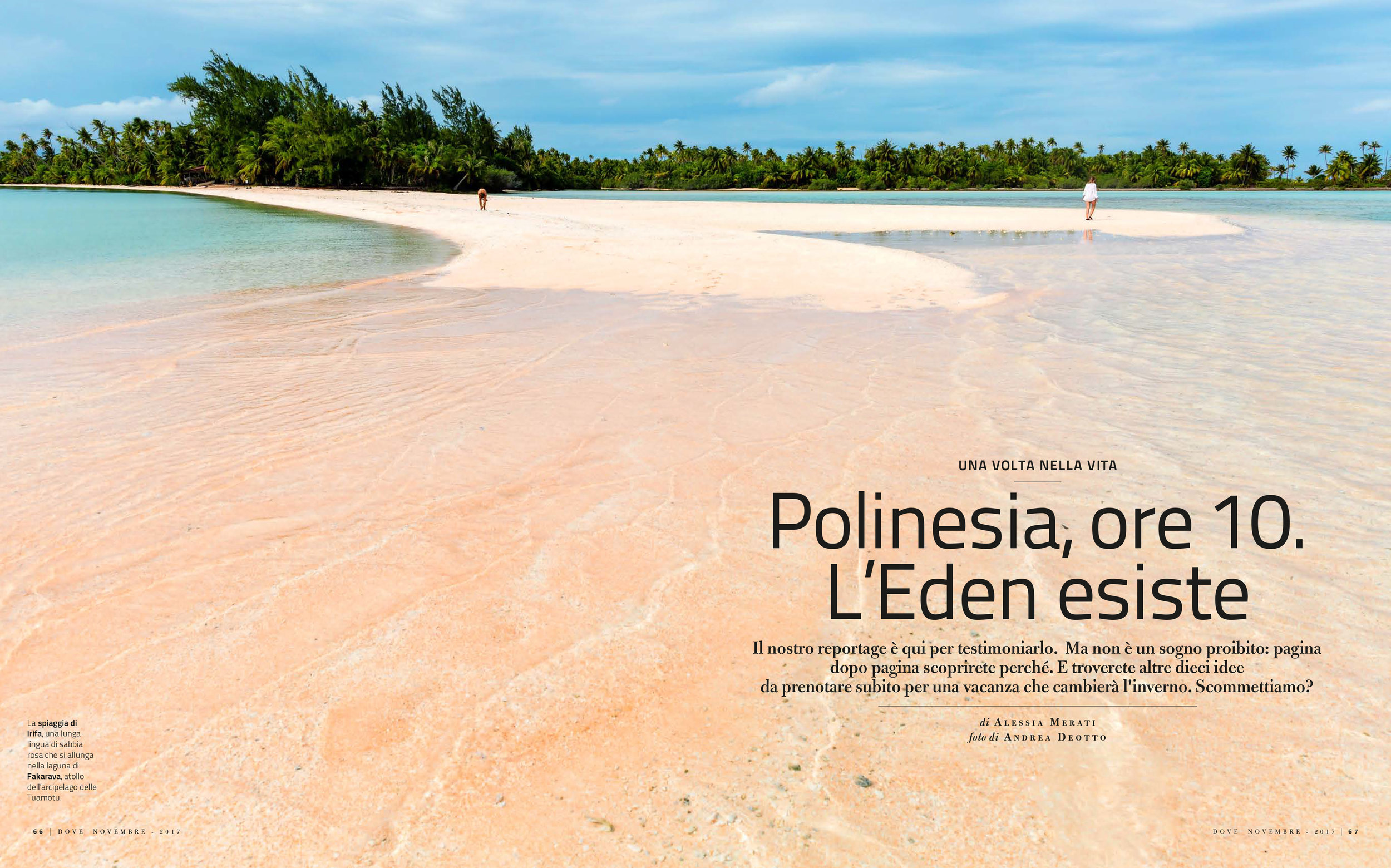 OPENING SPREAD OF THE REPORTAGE ON FRENCH POLINESIA